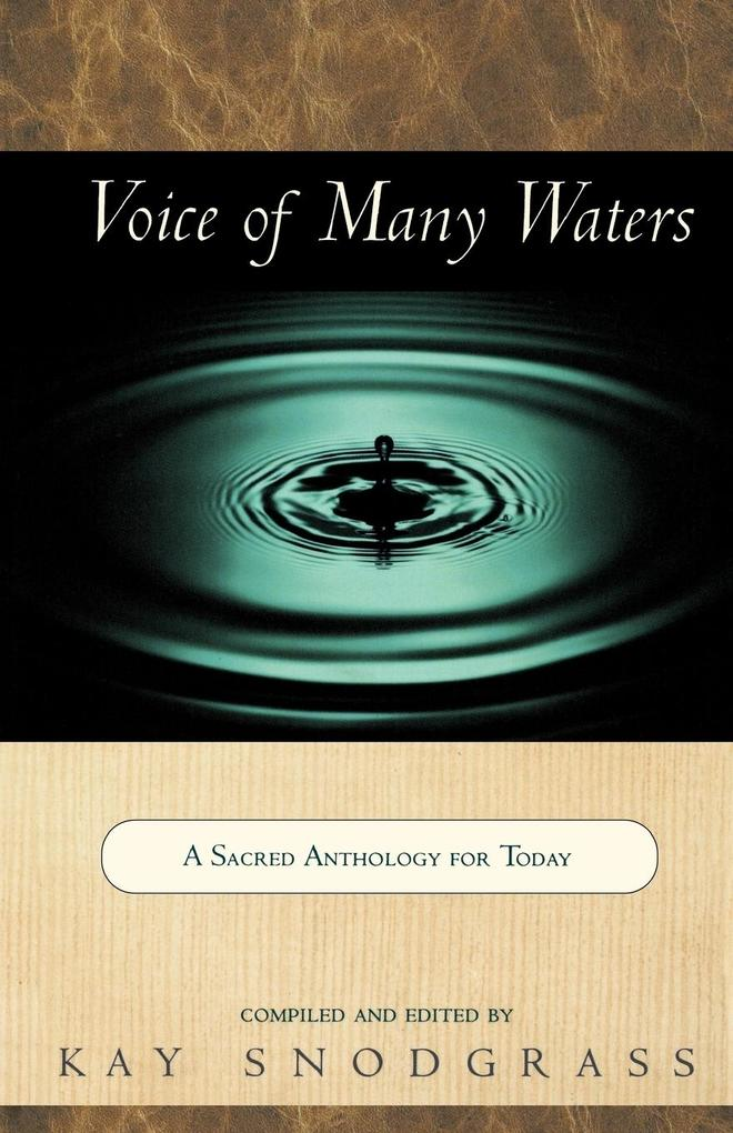 Voice of Many Waters: A Sacred Anthology for Today als Taschenbuch