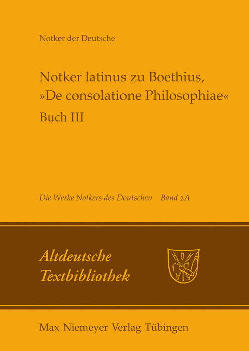 Notker latinus zu Boethius, »De consolatione Philosophiae« als eBook