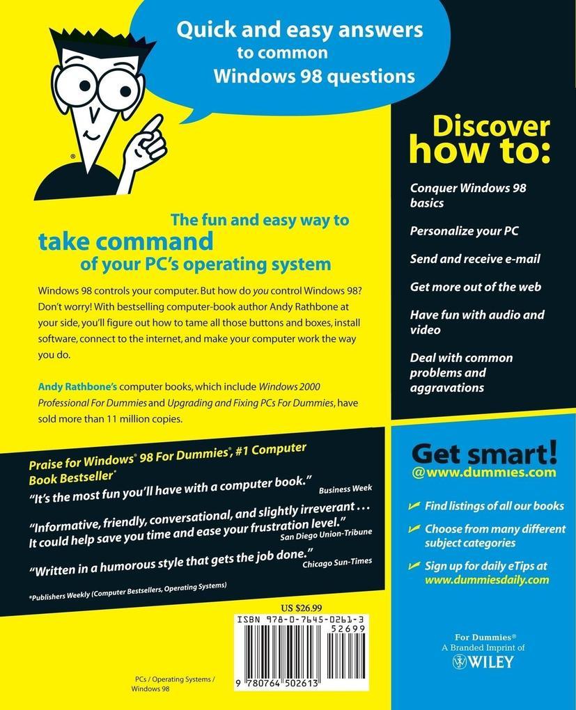 Windows 98 for Dummies als Buch