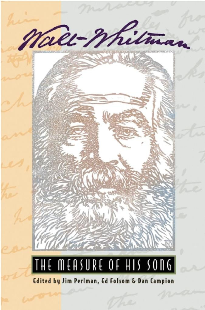 Walt Whitman: The Measure of His Song als Taschenbuch