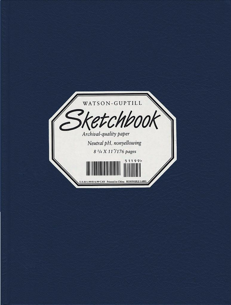Large Sketchbook (Lizard, Navy Blue) als Buch