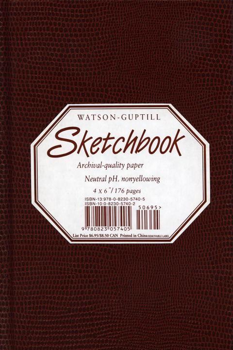 Small Sketchbook (Lizard, Burgundy) als Buch