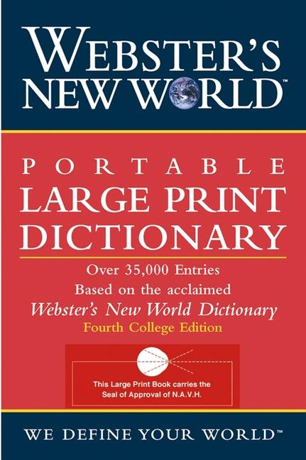 Webster's New World Portable Large Print Dictionary, Second Edition als Taschenbuch