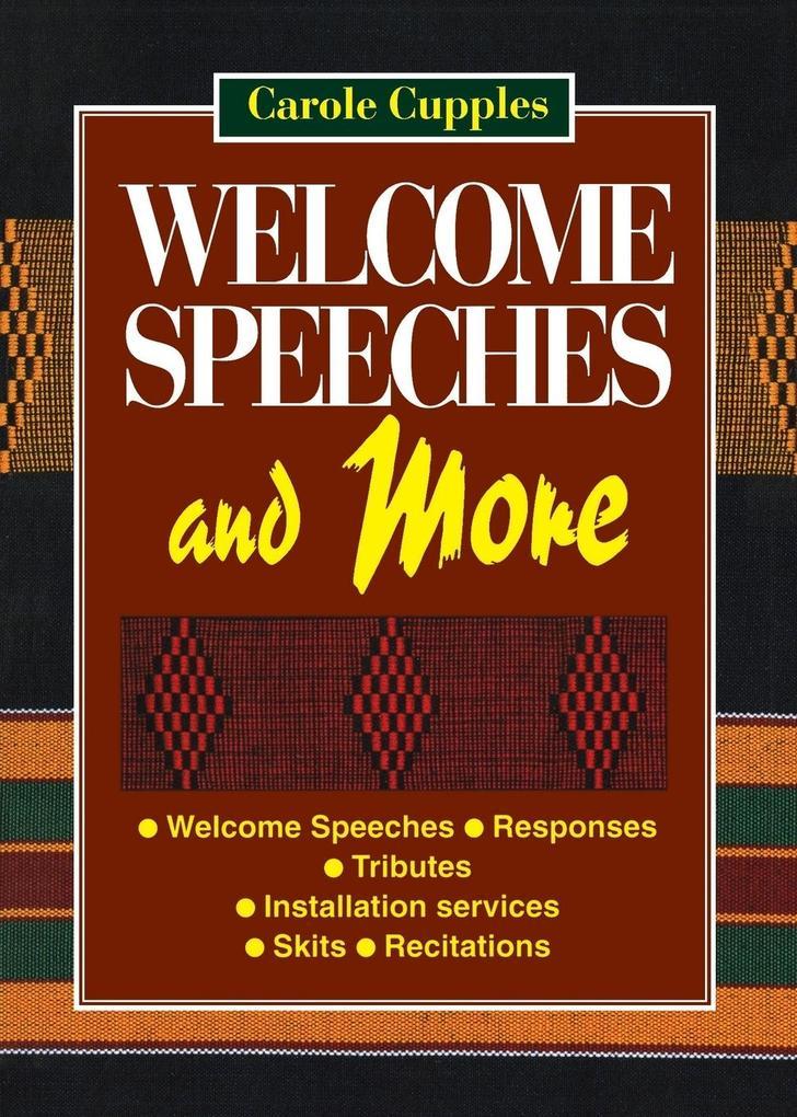 Welcome Speeches and More als Taschenbuch