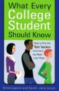 What Every College Student Should Know: How to Find the Best Teachers and Learn the Most from Them als Taschenbuch