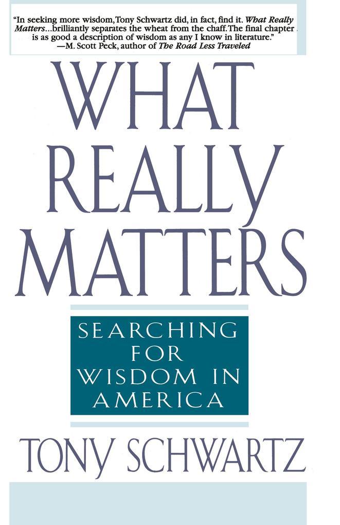 What Really Matters als Taschenbuch
