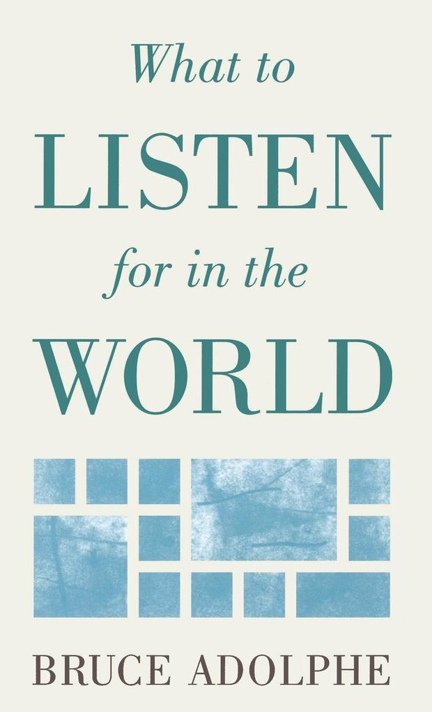 What to Listen for in the World als Buch