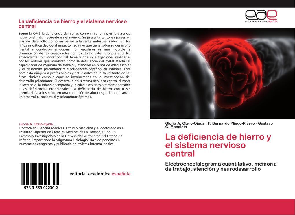 La deficiencia de hierro y el sistema nervioso central als Buch von Gloria A. Otero-Ojeda, F. Bernardo Pliego-Rivero, Gustavo G. Mendieta