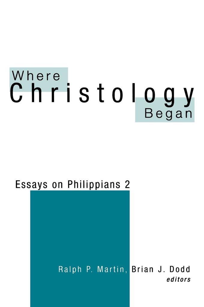 Where Christology Began als Taschenbuch