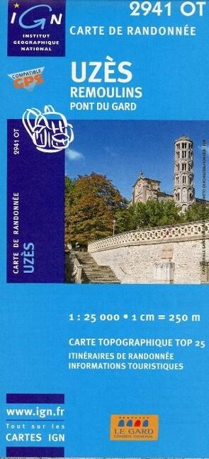 Uzès - Remoulins 1 . 25 000 als Buch