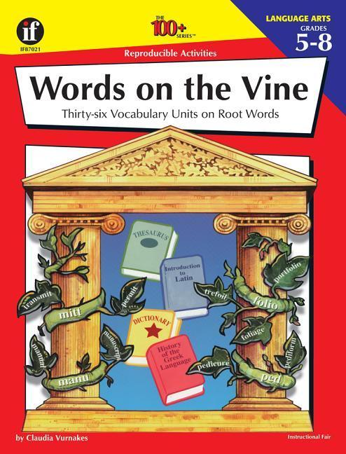 Words on the Vine, Grades 5 - 8 als Taschenbuch