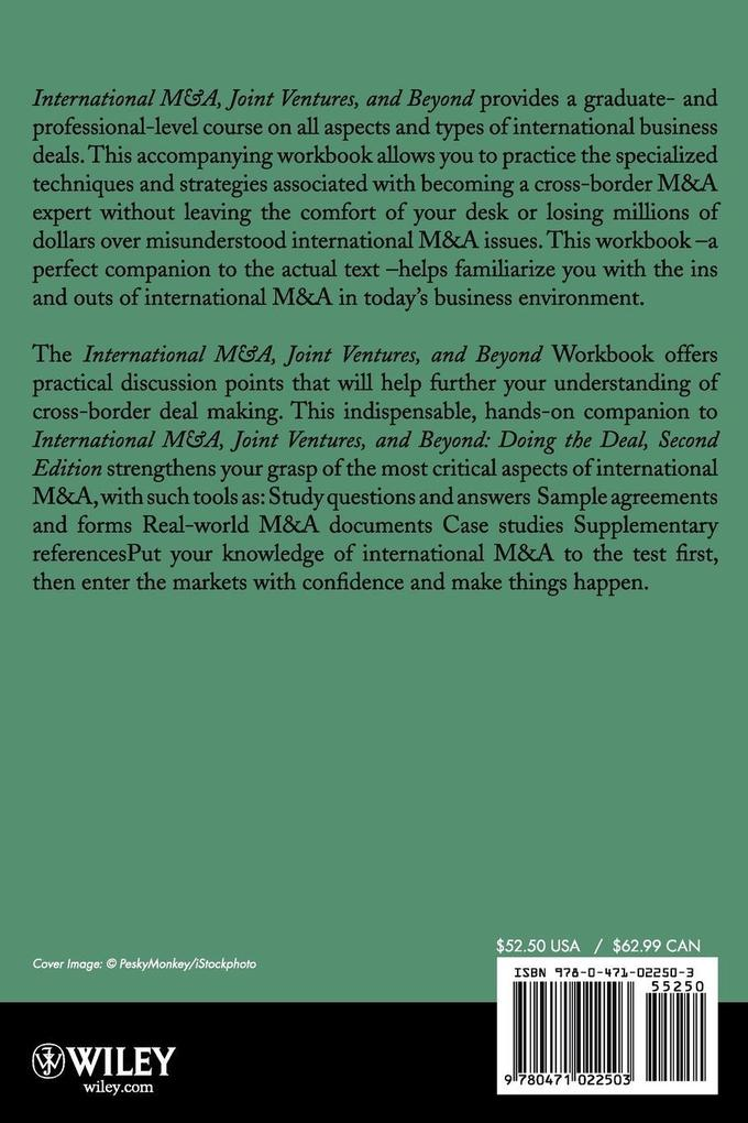 International M&A, Joint Ventures and Beyond Doing the Deal Workbook als Taschenbuch