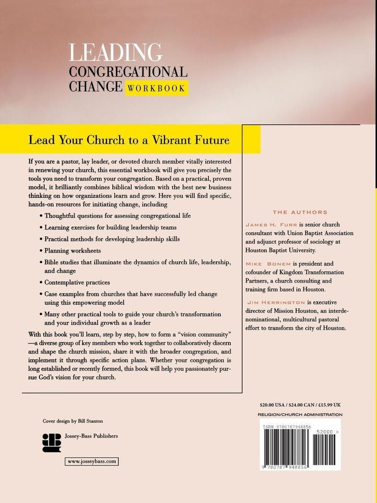 Lead Congregational Change Wrkbk als Taschenbuch