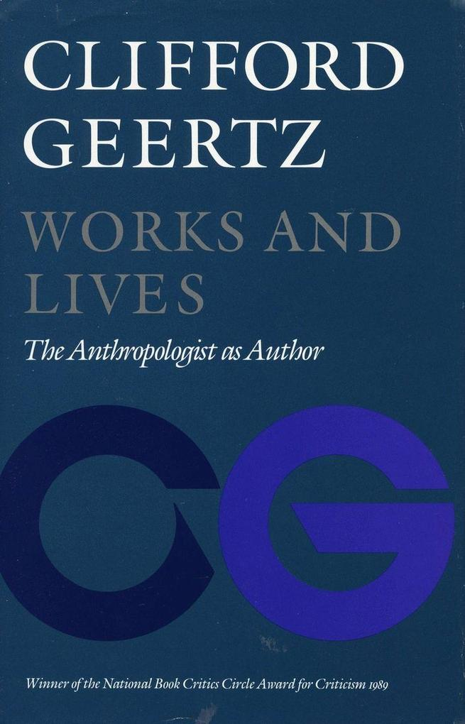 Works and Lives: The Anthropologist as Author als Taschenbuch