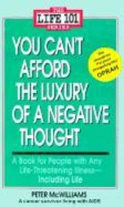 You Can't Afford the Luxury of a Negative Thought als Taschenbuch