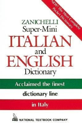 Zanichelli Super-Mini Italian and English Dictionary als Taschenbuch