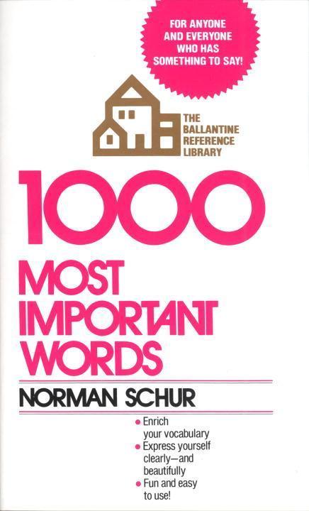 1000 Most Important Words als Taschenbuch