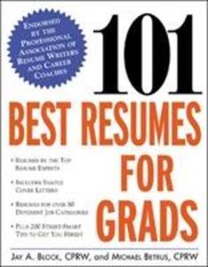 101 Best Resumes for Grads als Taschenbuch