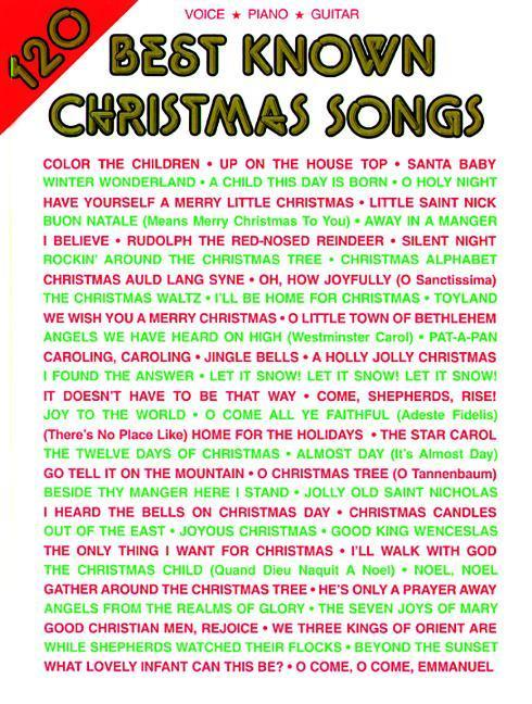 120 Best Known Christmas Songs: Piano/Vocal/Guitar als Taschenbuch