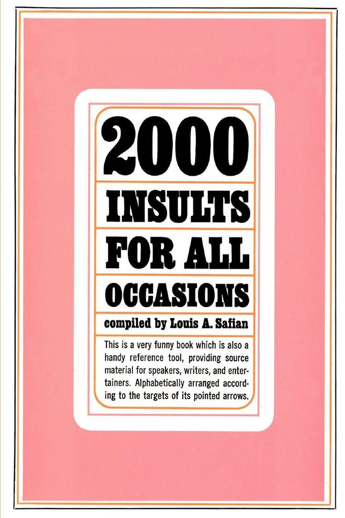 2000 Insults for All Occasions als Taschenbuch