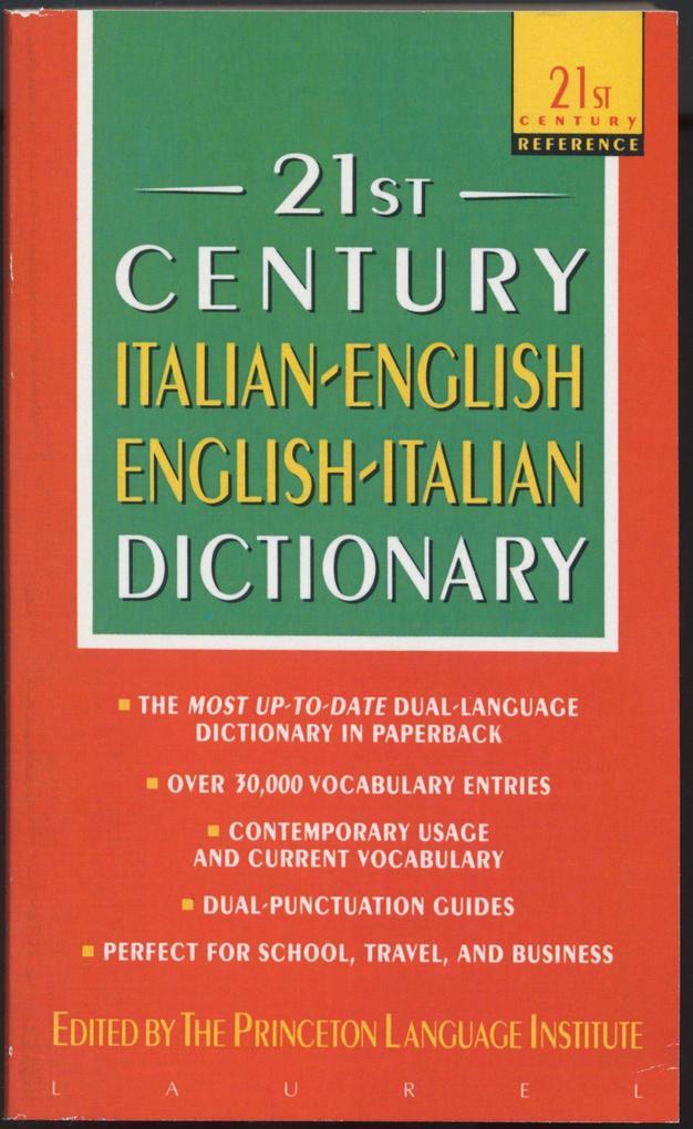Italian-English/English-Italian Dictionary als Taschenbuch