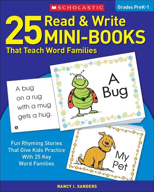 25 Read & Write Mini-Books: That Teach Word Families als Taschenbuch