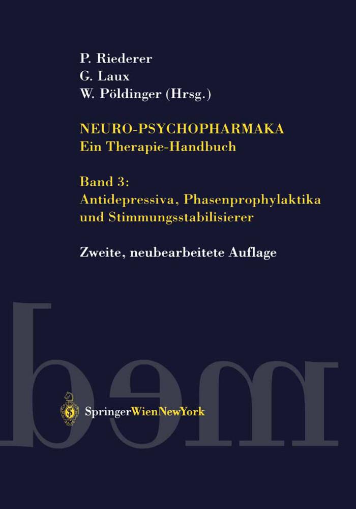 Antidepressiva und Phasenprophylaktika als Buch