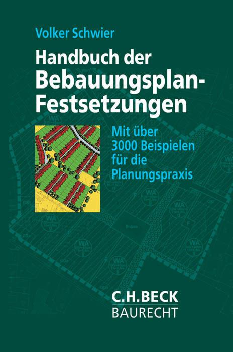 Handbuch der Bebauungsplan-Festsetzungen als Buch