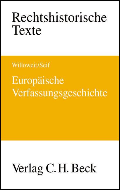 Europäische Verfassungsgeschichte als Buch