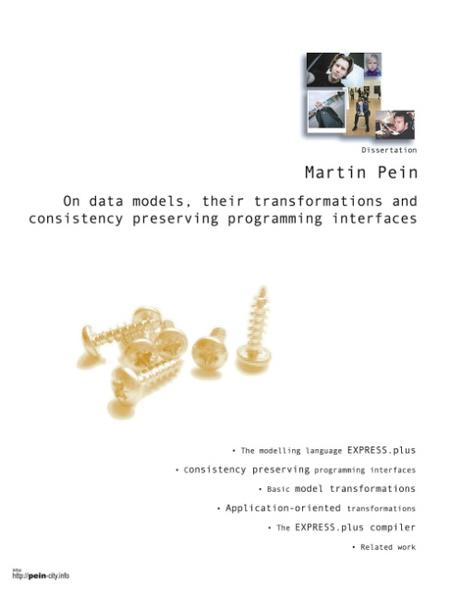 On data models, their transformations and consistency preserving programming interfaces als Buch