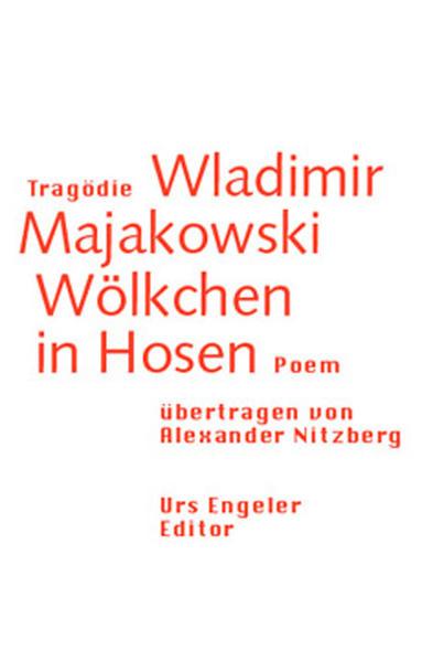 Tragödie Wladimir Majakowski. Wölkchen in Hosen als Buch
