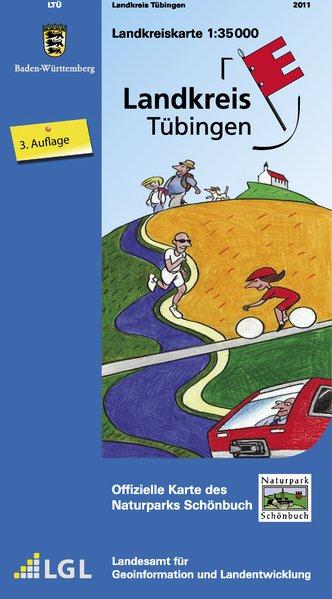 Landkreis Tübingen mit Naturpark Schönbuch 1 : 35 000 als Buch