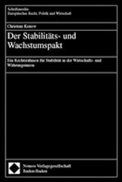 Der Stabilitäts- und Wachstumspakt als Buch