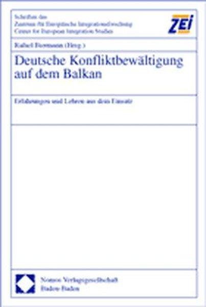 Deutsche Konfliktbewältigung auf dem Balkan als Buch