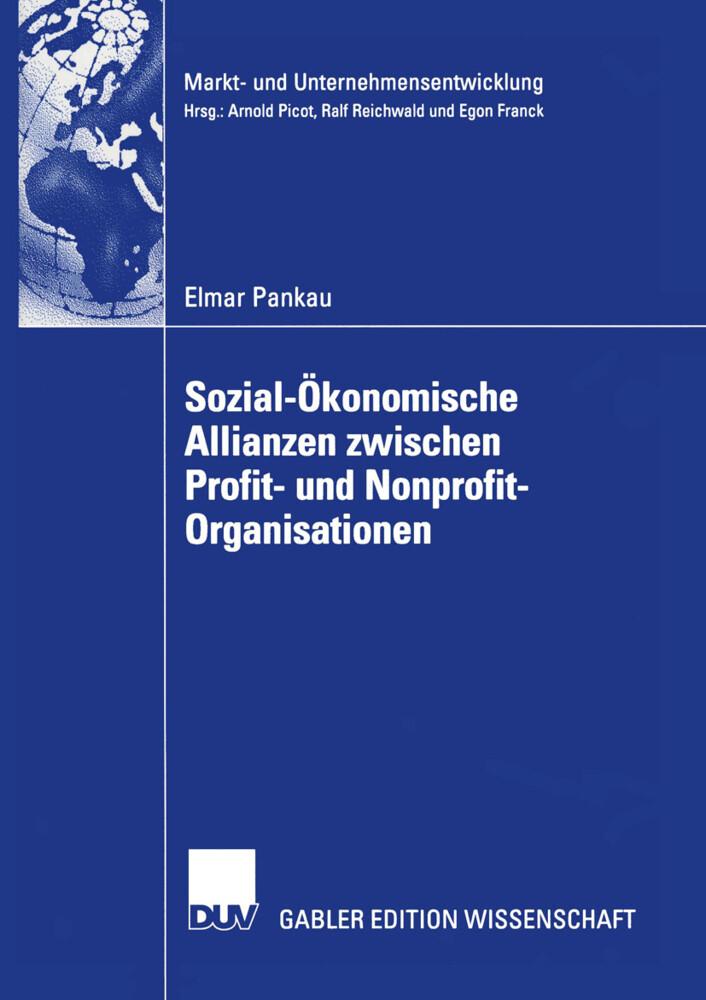 Sozial-Ökonomische Allianzen zwischen Profit- und Nonprofit-Organisationen als Buch