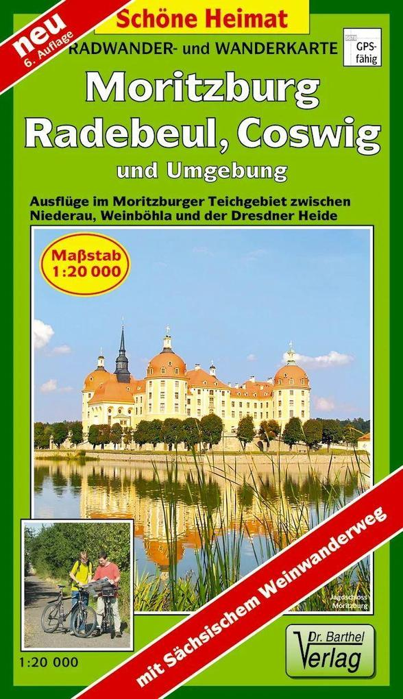 Moritzburg, Radebeul, Coswig und Umgebung 1 : 20 000. Radwander- und Wanderkarte als Buch