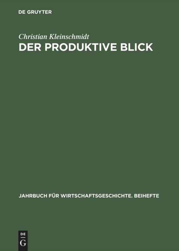 Der produktive Blick als Buch