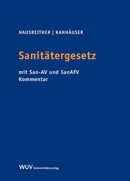 Sanitätergesetz als Buch