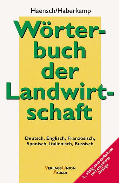 Wörterbuch der Landwirtschaft als Buch