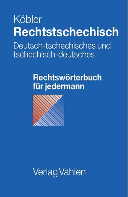 Rechtstschechisch als Buch