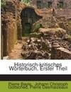 Historisch-kritisches Wörterbuch, Erster Theil