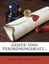 Großherzoglich Badisches Staats- und Regierungs-Blatt.