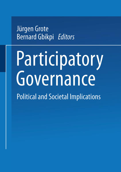 Participatory Governance als Buch