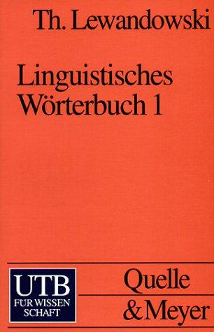 Linguistisches Wörterbuch 1/3 als Buch