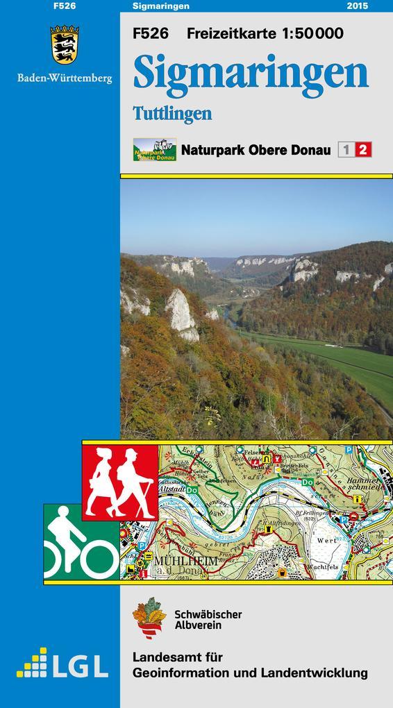 Sigmaringen Naturpark Obere Donau Freizeitkarte 1 : 50 000 als Buch