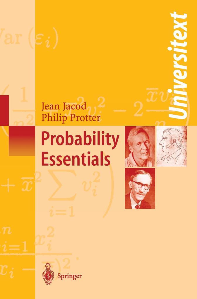 Probability Essentials als Buch