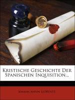 Kristische Geschichte der Spanischen Inquisition, zweiter Band als Taschenbuch