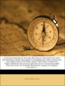 Beyträge zur juristischen Biographie. als Taschenbuch von Johann Friedrich Jugler
