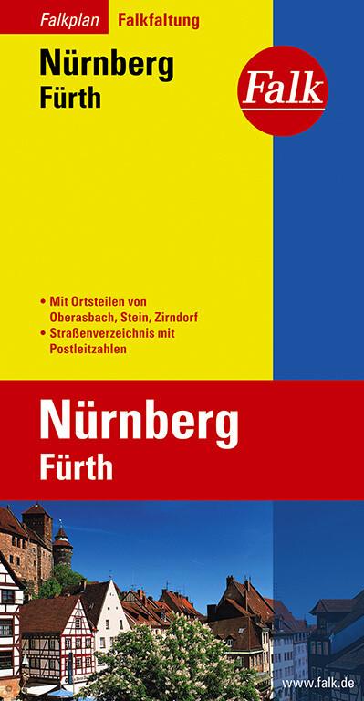 Falk Stadtplan Falkfaltung Nürnberg / Fürth 1 : 23 000 als Buch