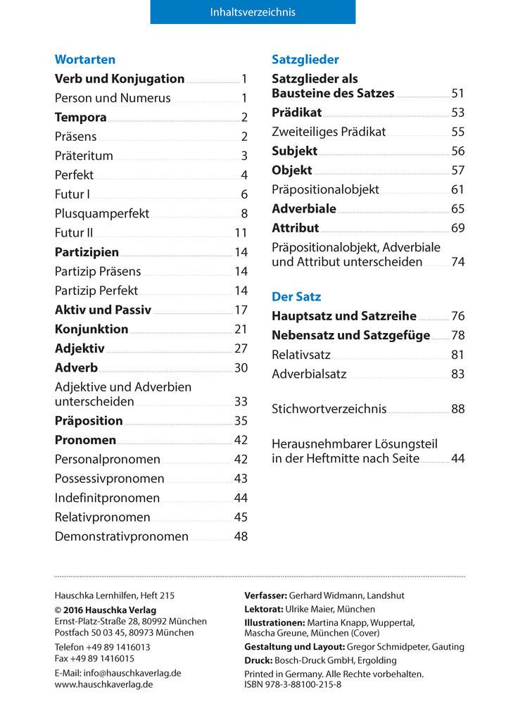 Grammatik 5. - 7. Klasse (Buch), Gerhard Widmann